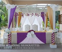 Malay Modern Reception Decorations Hiasan meja makan beradab pelamin pengantin pakej perkahwinan Kelantan 103011
