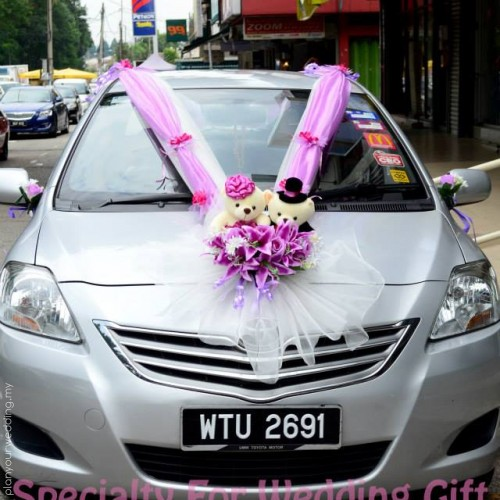 Planyourwedding your wedding ideas and inspiration wedding car decoration with cute bears junglespirit Image collections
