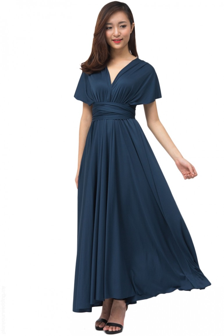 7f3067f28b8 ... COVETZ Kaelyn Convertible Maxi Dress - Navy Blue ...
